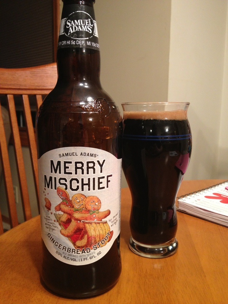 528. Samuel Adams - Merry Mischief Gingerbread Stout