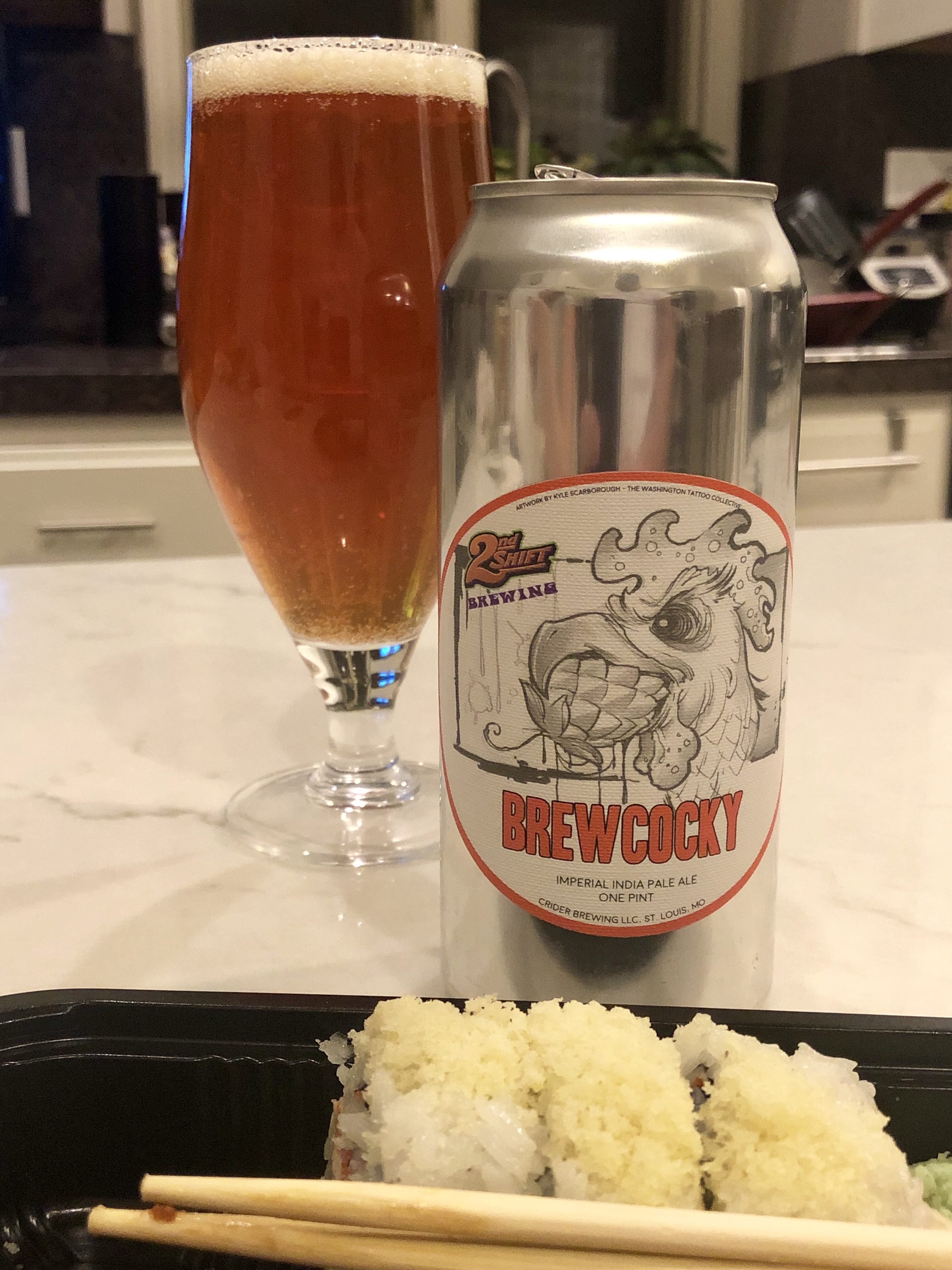 927. 2nd Shift Brewing - Brewcocky Imperial IPA