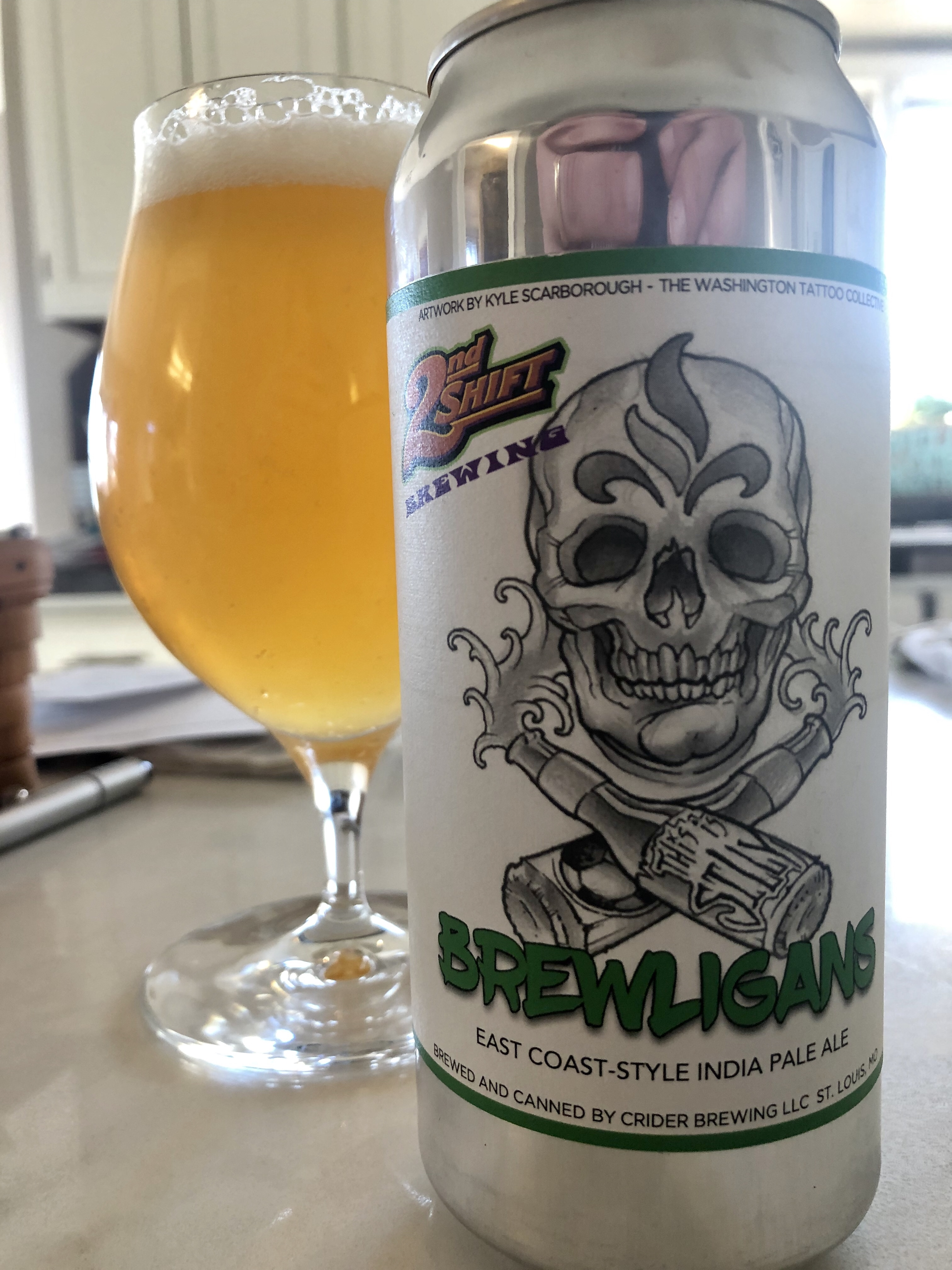 930. 2nd Shift - Brewligans East Coast Style IPA